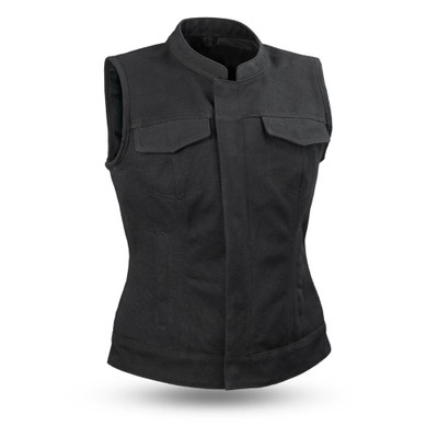 womens leather vest