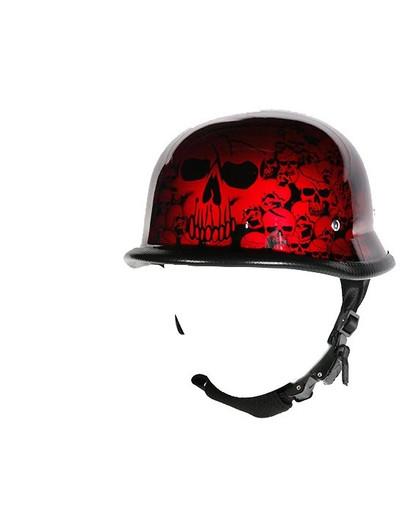Burgundy Skull German Novelty Helmet