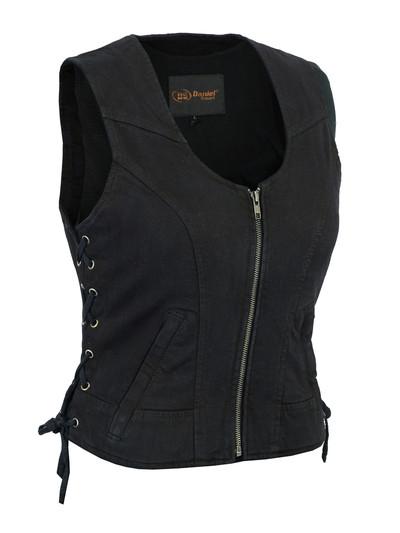 Women's Stylish Black Denim Vest