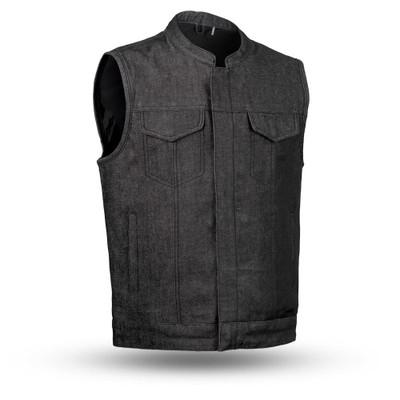 Kershaw Men Denim Motorcycle Vest