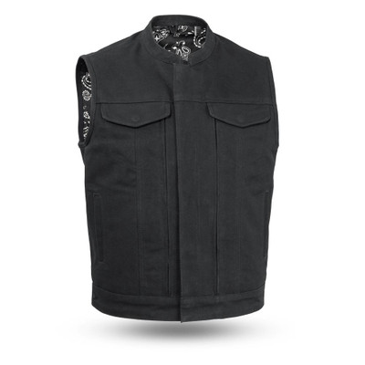 Highland V2 - Men's Motorcycle Canvas Vest