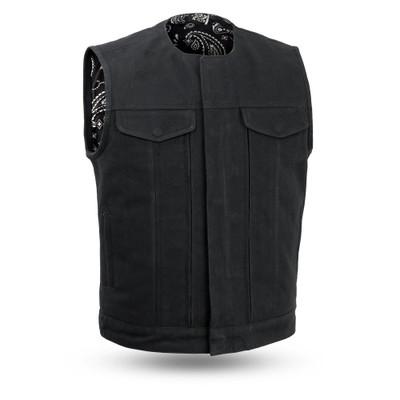 FAIRFAX V2 - Men Motorcycle Vest in Canvas