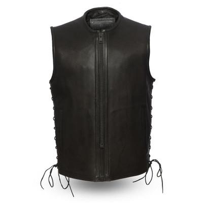 Venom Men Motorcycle Leather vest