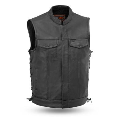 Sniper  Men Motorcycle Leather Vest
