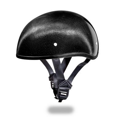 D.O.T. DAYTONA SKULL CAP W/O VISOR- GREY CARBON FIBER