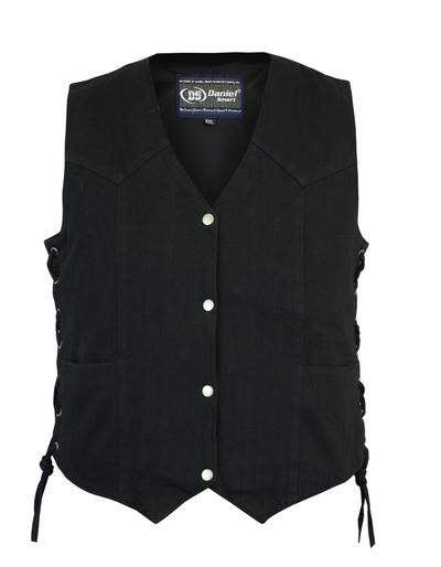 Women's Denim Classic Side Lace Vest
