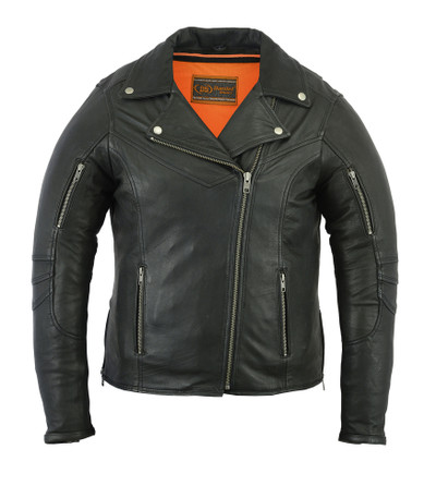 Women's Modern  Beltless Biker Jacket