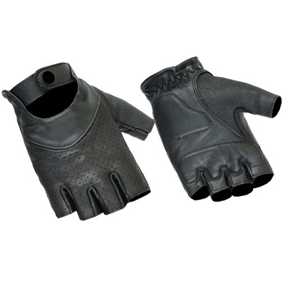 Women's Perforated Fingerless Glove