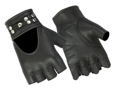 Women's Fingerless Glove with Rivets Detailing