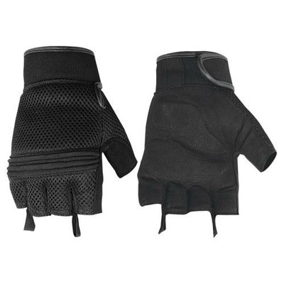 Synthetic Leather/ Mesh Fingerless Glove
