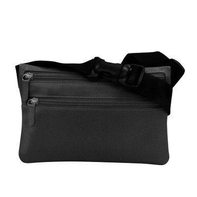 leather slim waist pouch with adjustable strap