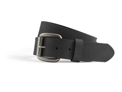1.5' Width black leather belt