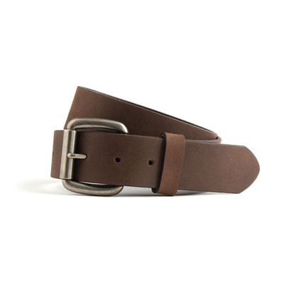 1.5' Width black leather belt brown