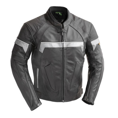 Leather  Racing Jacket with Stretchable Panels