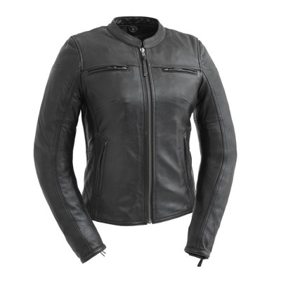 Supastar Ladies Motorcycle Leather Jacket