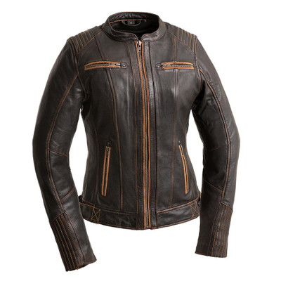 Electra  Women's Leather Motorcycle Jacket