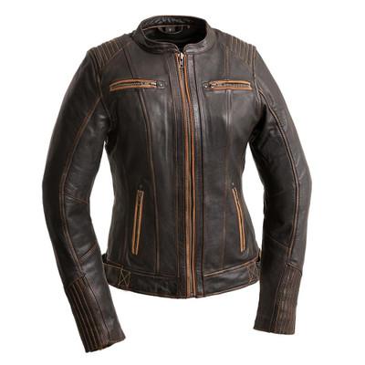Electra  Women's Leather Motorcycle Jacket