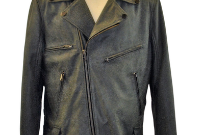 Distress Grey  Leather Moto Style