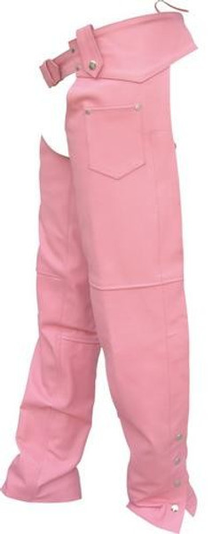 LADIES PINK PLAIN CHAPS