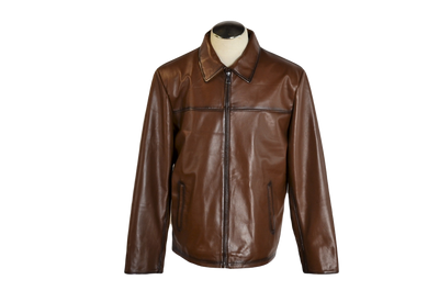 Men Burnished Brown Soft Lambskin Hipster