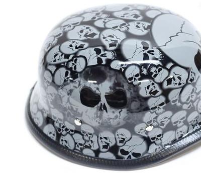 Graveyard German Novelty Helmet Gray Skull