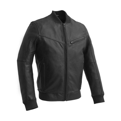 Aviator men leather jacket