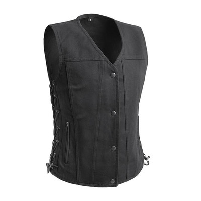 Tiff- Women's Motorcycle Twill Vest