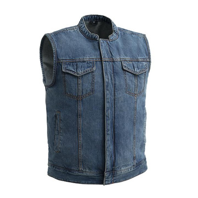 Havoc - Men's Motorcycle Blue Denim Vest