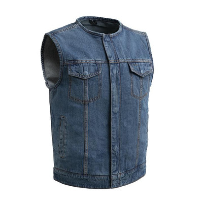 No Limit - Men's Motorcycle Blue Denim Vest