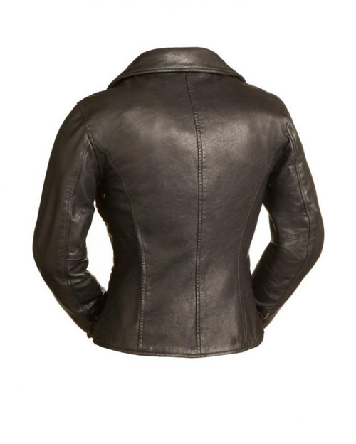 Women's Monte Carlo Black Leather Jacket