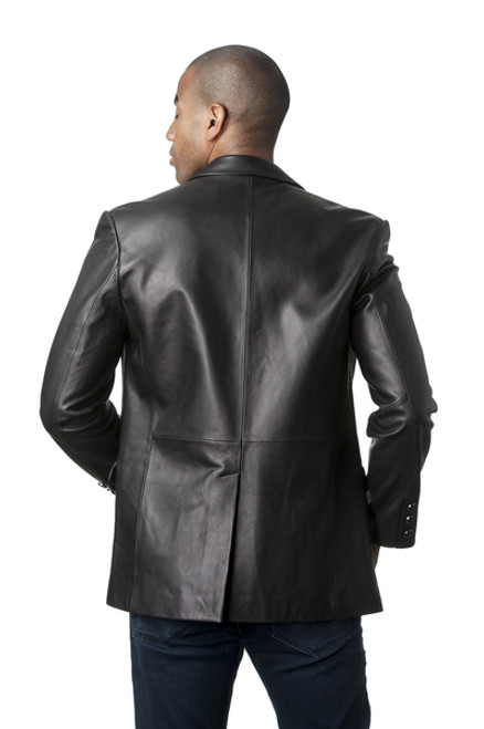 Men Lamb Leather Blazer