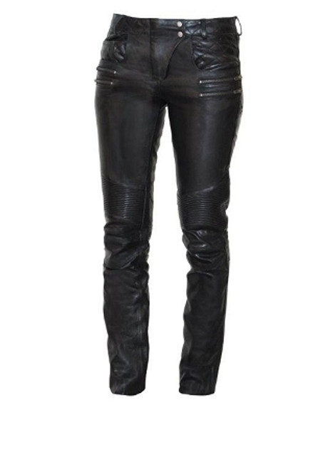 Women Vixen Detailed  Leather Jean Pants