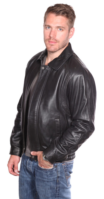Men lambskin Leather Bomber