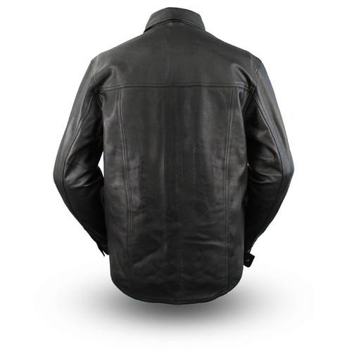 Men Milestone Lightweight Leather Shirt