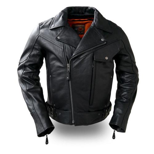 Major Ego heavy duty motorcycle leather jacket