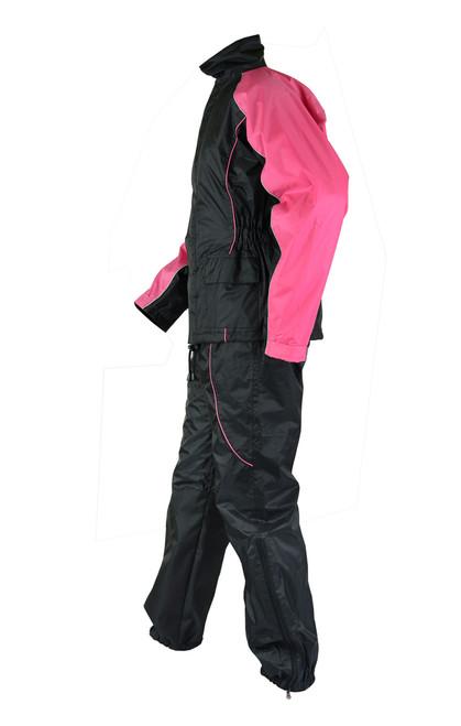 Women's  Motorcycle Rain Gear Suit hot pink