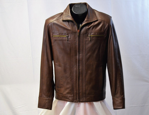 Men Xtra Light Weight Leather Jacket