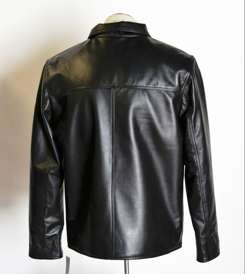Men Hipster Classic Light Weight Leather Jacket