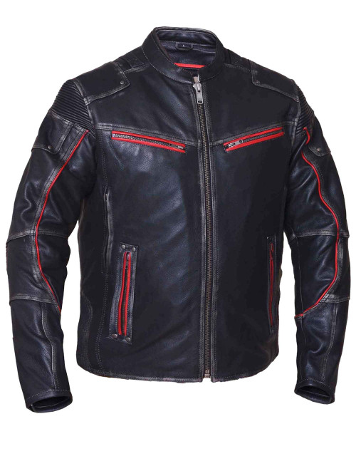 Men Durango  Motorcycle Leather Jacket