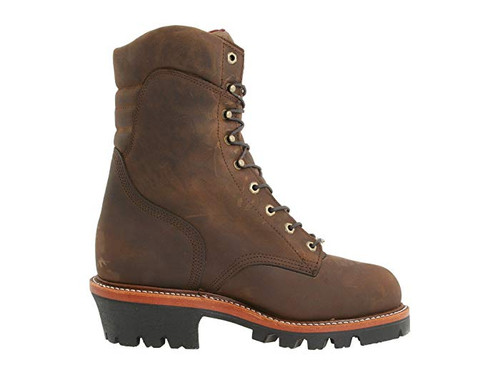 "Chippewa Insulated Waterproof Super Logger 9"" Work Boots - Steel Toe Brown"