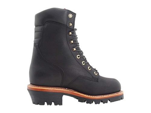 "Chippewa Insulated Waterproof Super Logger 9"" Work Boots - Steel Toe Black"