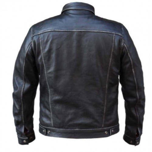 Leather Jean Style Jacket