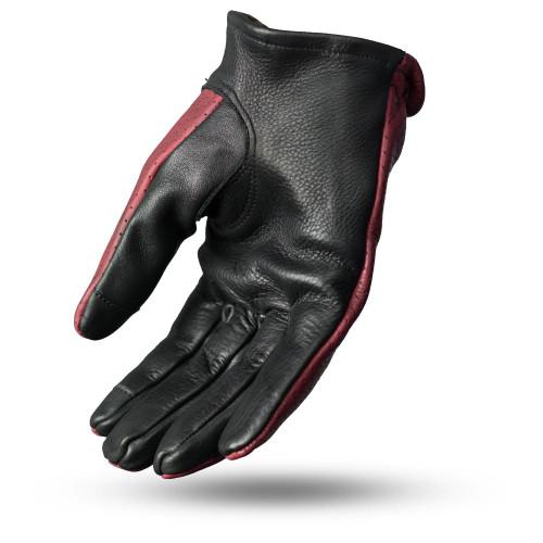 Perforated Roper Gloves/OXBLOOD/BLACK