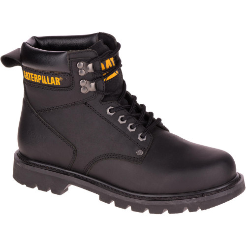 MEN'S SECOND SHIFT WORK BOOT BLACK STEEL TOE