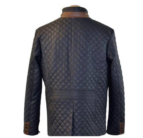 Men navy blue/brown trim lightweight  leather Hipster
