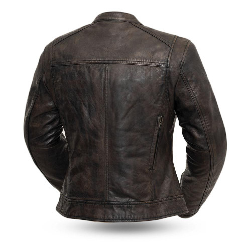 Women's Leather Motorcycle Jacket Trickster