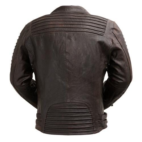 Brooklyn  blackish/ Brown  Moto Inspired Lather Jacket