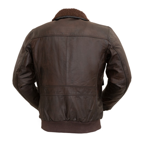 BOMBER JACKET WITH REMOVABLE FUR COLLAR