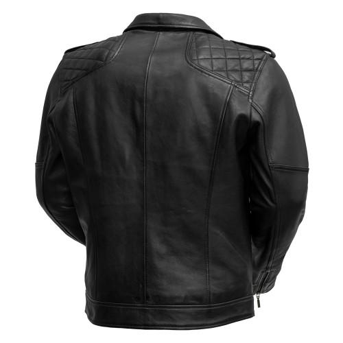 Gavin- Men Leather  Quilted Shoulder Stitched