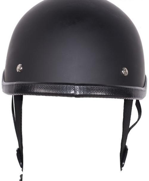 Skull Cap Flat Black Novelty Helmet
